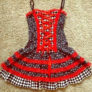 Hell Bunny Lace Up Dress Vixen Party Photoshoot XS